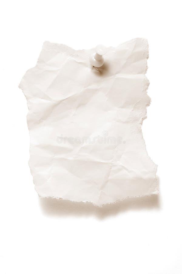 punaise de papier déchirée image stock