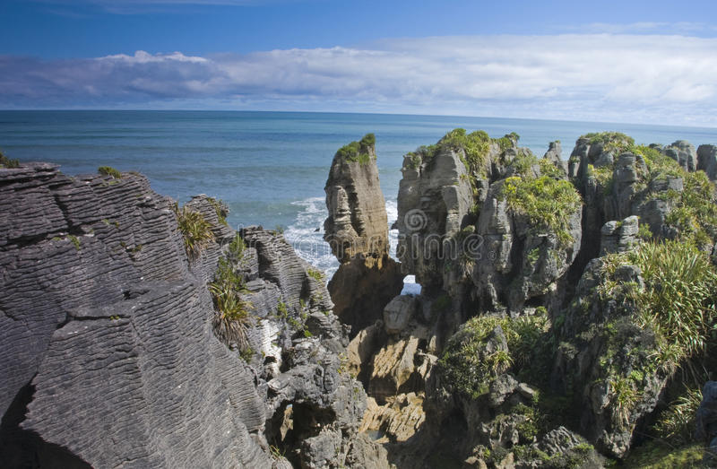 Punakaiki Pancake Rocks stock photography