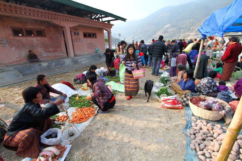 Punakha,不丹- 2012年11月07日:未认出的不丹peop 库存图片