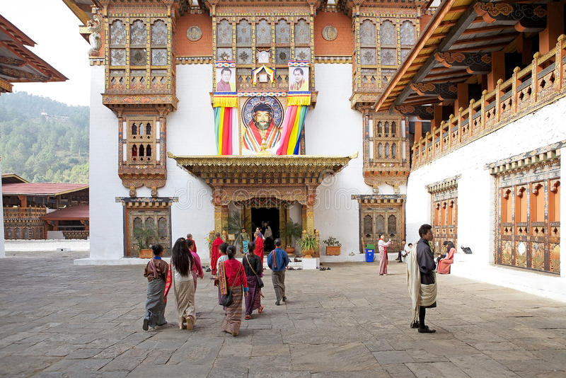 Punakha Dzong, Punakha,不丹 免版税库存照片