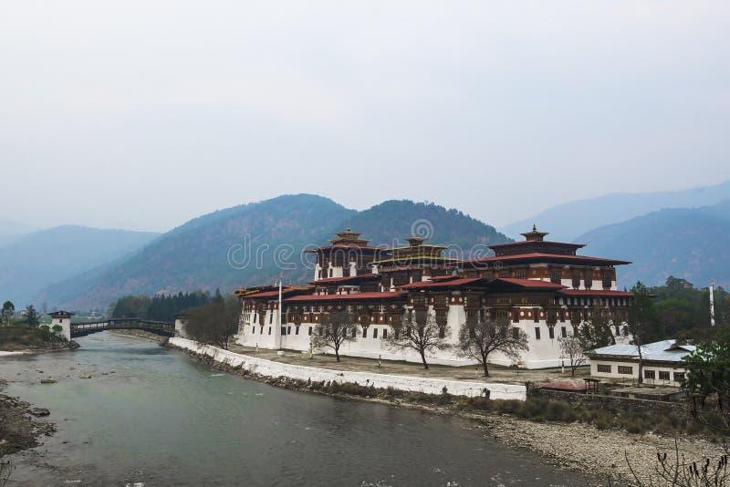 Punakha Dzong, Μπουτάν στοκ φωτογραφίες
