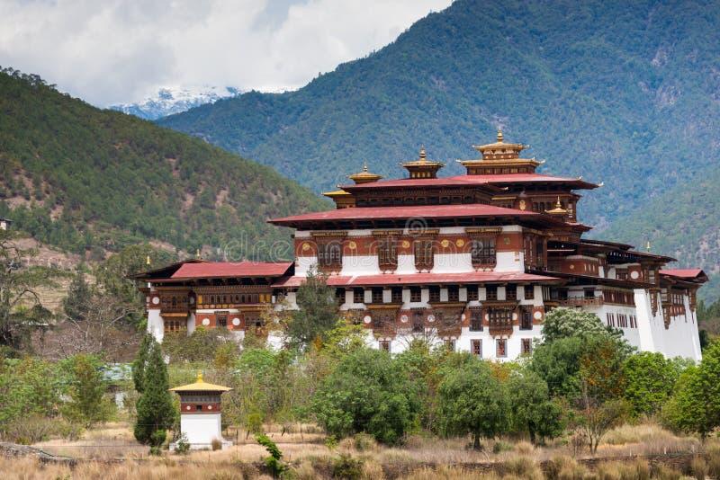 Punakha Dzong στο Μπουτάν στοκ φωτογραφία με δικαίωμα ελεύθερης χρήσης