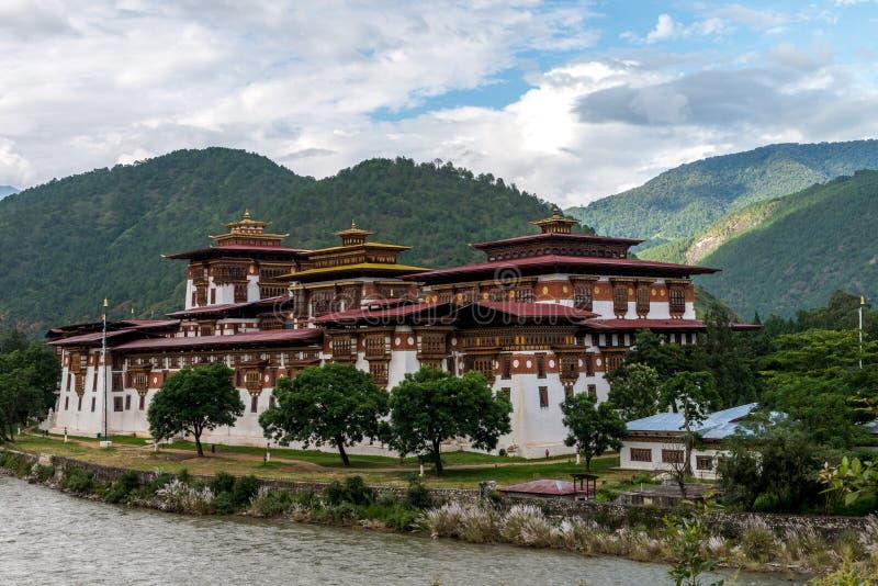 Punakha Dzong, το Σεπτέμβριο του 2015 του Μπουτάν επαρχιών Punakha στοκ φωτογραφία