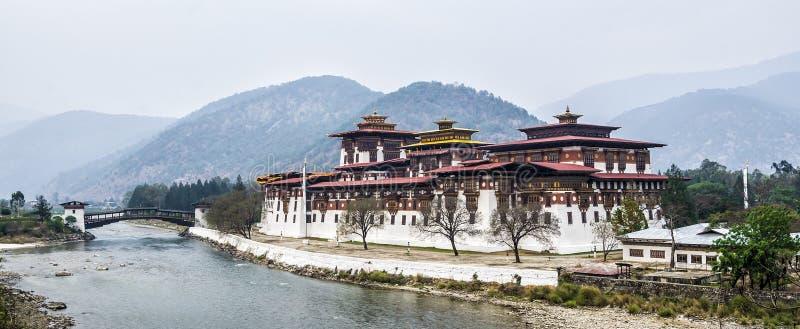 Punakha Dzong, Бутан стоковая фотография