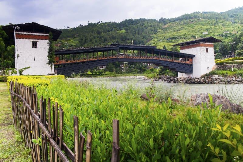 Punakha Dzong royaltyfri foto