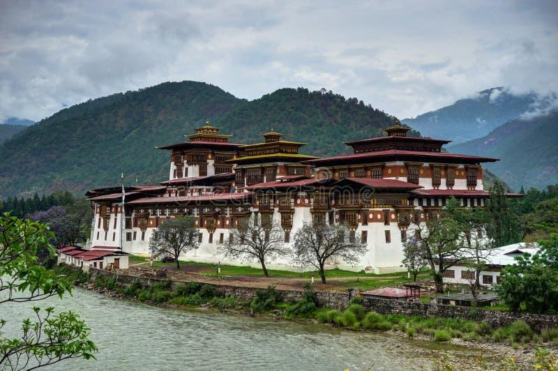 Punakha Dzong in Bhutan royalty-vrije stock afbeelding