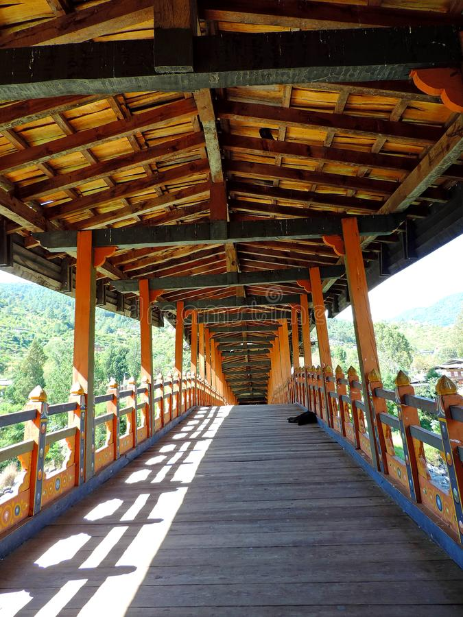 Punakha Dzong, Bhutan stockbilder