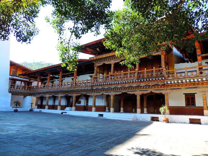 Punakha Dzong, Bhutan stock afbeelding