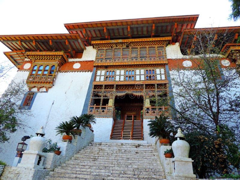 Punakha Dzong, Bhutan royaltyfri fotografi