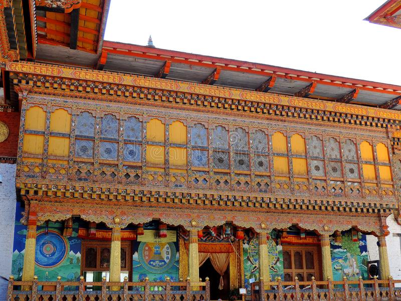 Punakha Dzong, Butão foto de stock royalty free