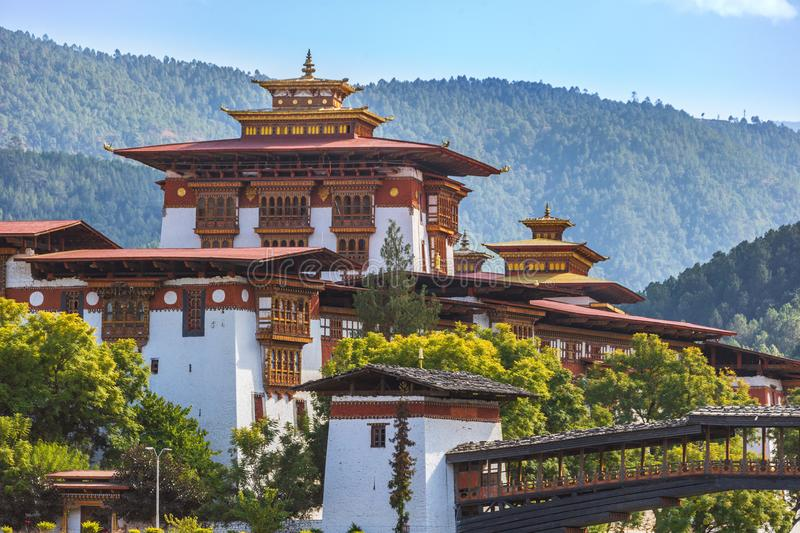 Punakha Dzong in Buthan royalty-vrije stock fotografie