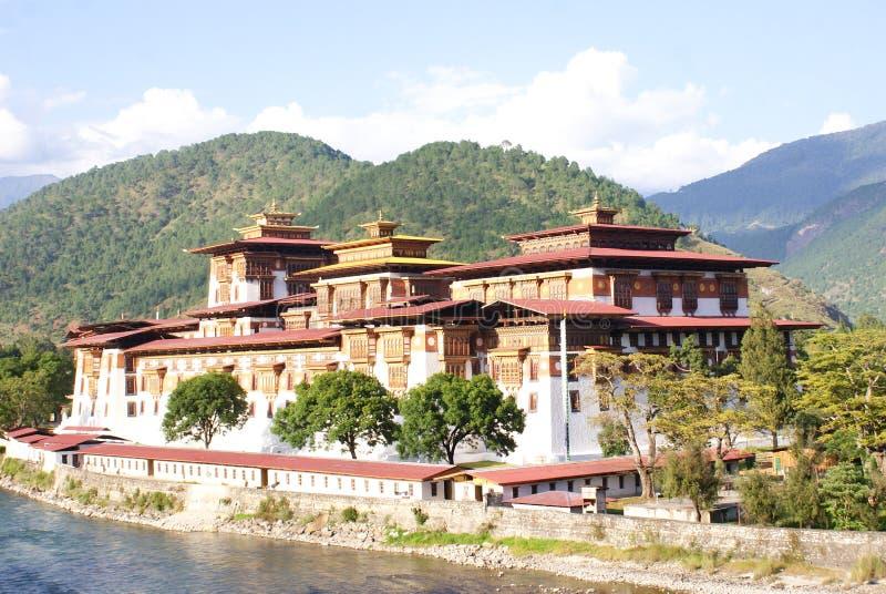 Punakha Dzong przy Punakha, Bhutan zdjęcie stock