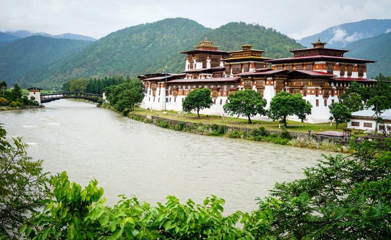 Punakha Dzong in Punakha, Bhutan royalty free stock image