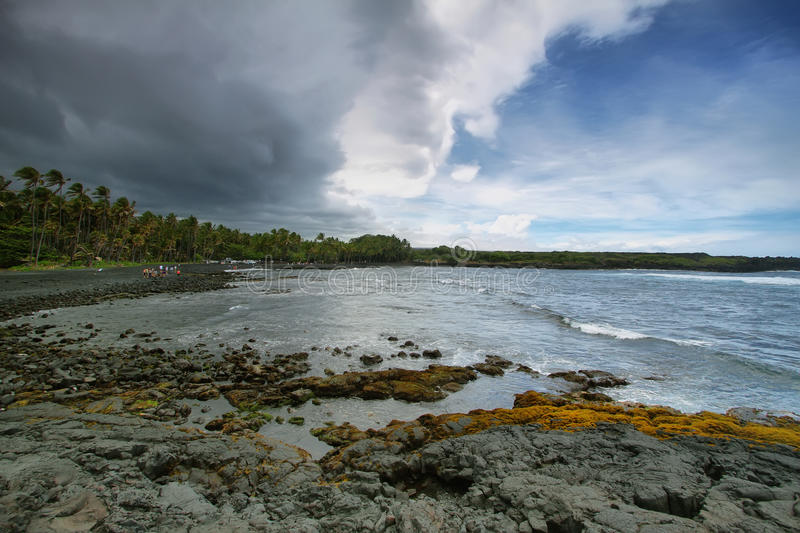 Download Punalu'u Black Sand Beach stock image. Image of protected - 37773363