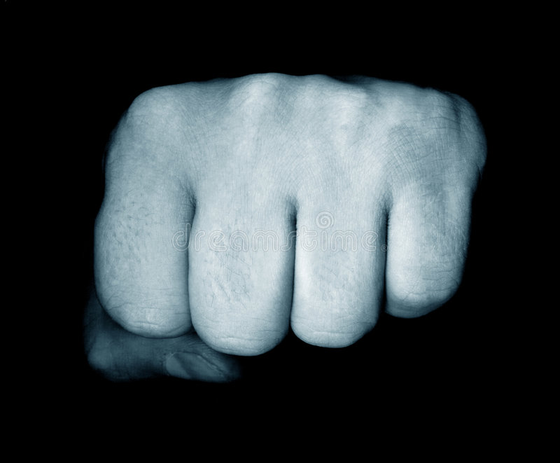 Punch. A punch from the dark royalty free stock photos