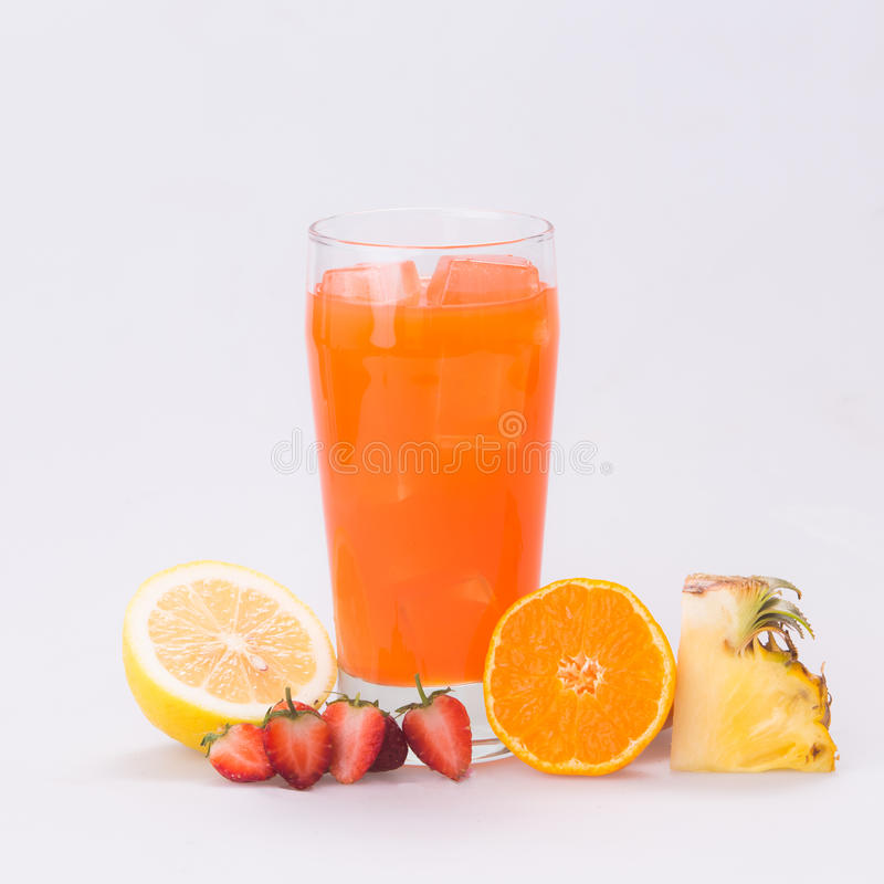 Punch a cool and refreshing. Punch a cool and refreshing white backdrop royalty free stock photos