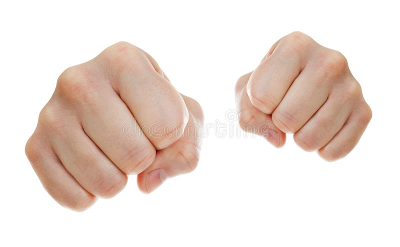 Download Punch Fists Isolated On White Stock Photo - Image: 23004622