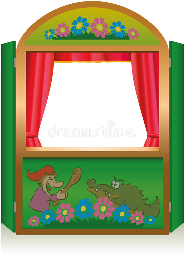 Download Punch And Judy Booth stock image. Image of theater, children - 31931045