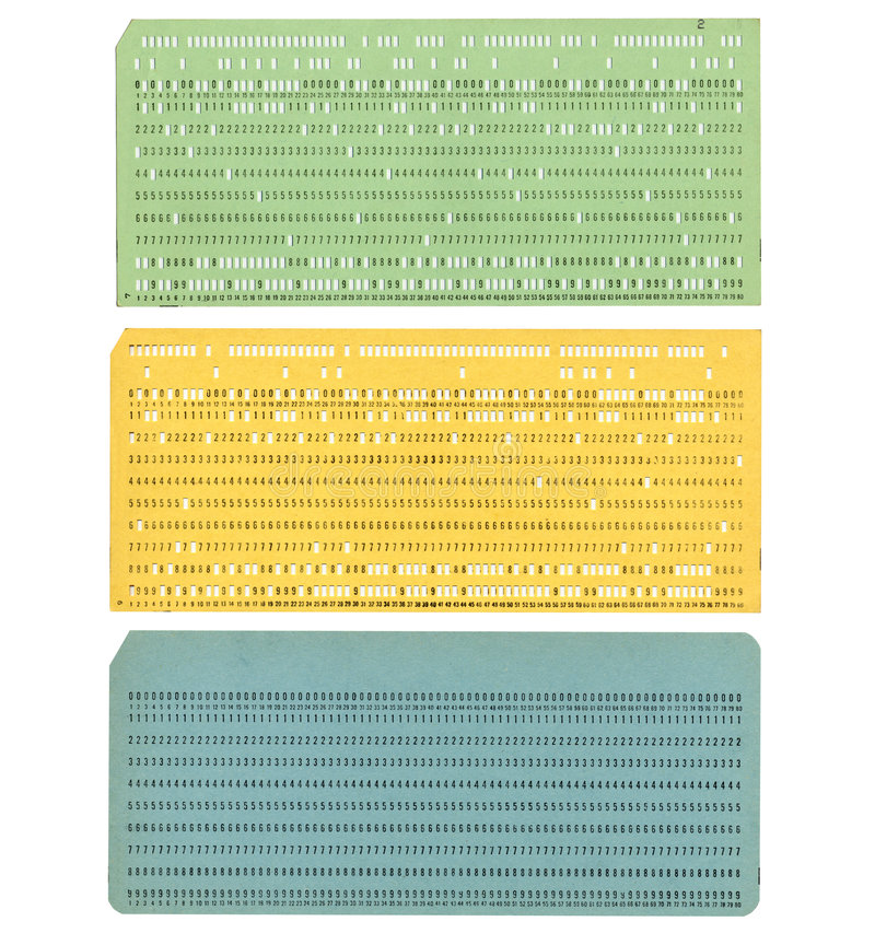 Download Punched card stock image. Image of sixties, programming - 7916411