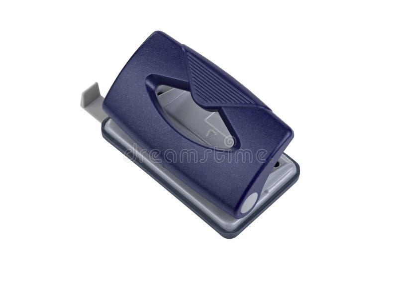Puncher De Agujero Azul Del Papel De La Oficina Fotografía de archivo