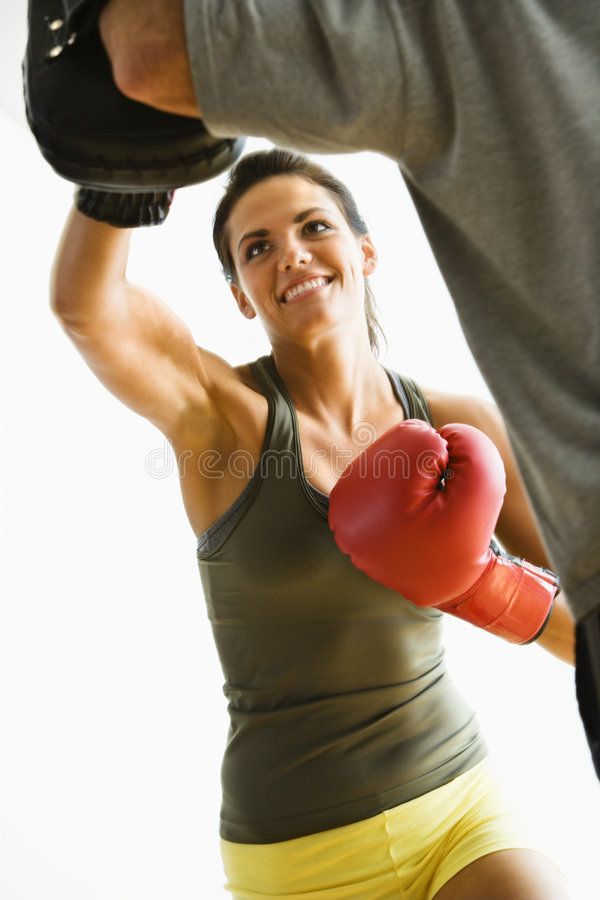 punching γυναίκα στοκ εικόνα