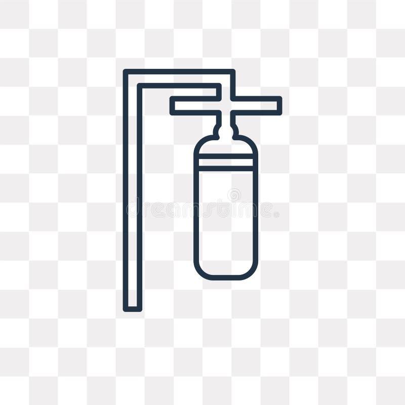 Punching διανυσματικό εικονίδιο τσαντών που απομονώνεται στο διαφανές υπόβαθρο, lin απεικόνιση αποθεμάτων