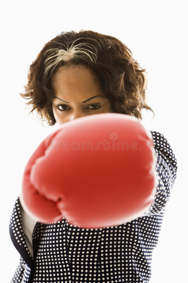 punching επιχειρηματιών στοκ φωτογραφία με δικαίωμα ελεύθερης χρήσης