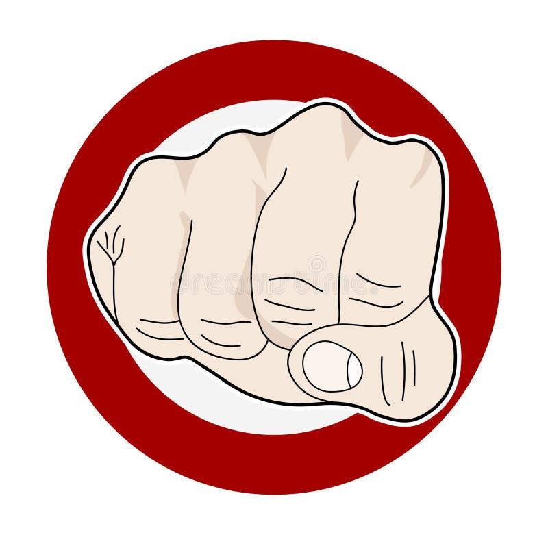 Punching πυγμών, λαϊκή τέχνη ελεύθερη απεικόνιση δικαιώματος
