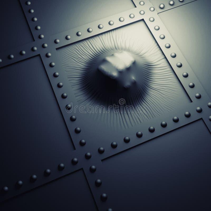 Punching πυγμών μέταλλο απεικόνιση αποθεμάτων
