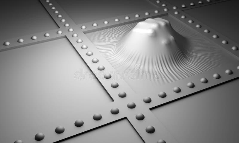 Punching πυγμών μέταλλο διανυσματική απεικόνιση