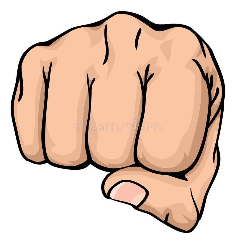 punching πυγμών προς σας απεικόνιση αποθεμάτων