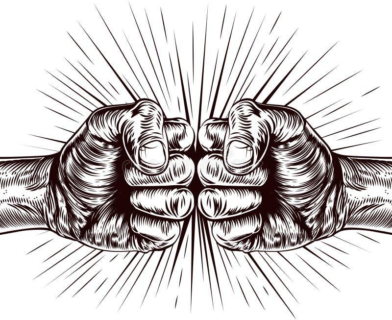 Punching πυγμών διανυσματική απεικόνιση