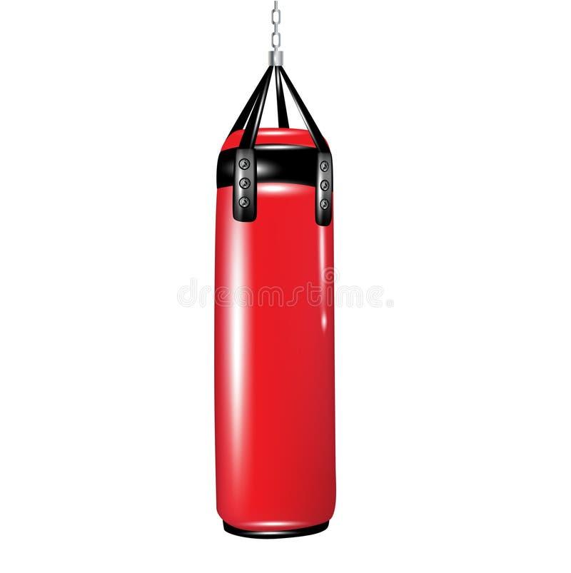 Punching τσάντα για τον εγκιβωτισμό διανυσματική απεικόνιση