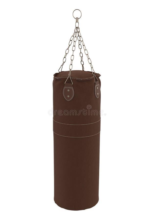 Punching τσάντα που απομονώνεται ελεύθερη απεικόνιση δικαιώματος