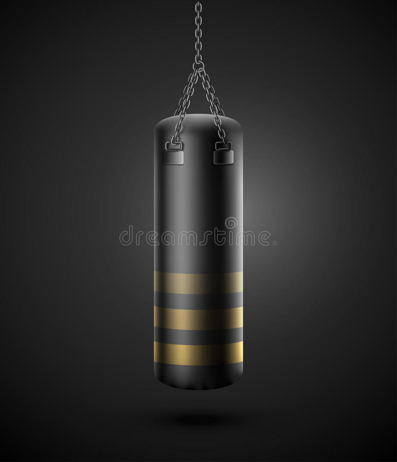 Punching τσάντα ελεύθερη απεικόνιση δικαιώματος