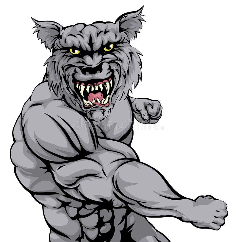 Punching χαρακτήρα τιγρών απεικόνιση αποθεμάτων