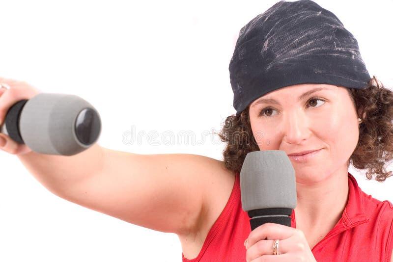 Download Punching stock image. Image of feminine, weights, training - 453651