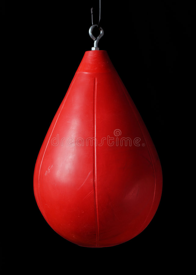 Free Punching Bag On Black Background Stock Images - 2114274
