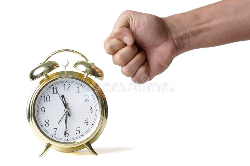 Punching the clock stock photography