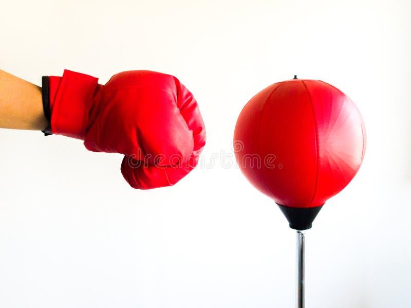 Punching mitt hit punching ball royalty free stock photos