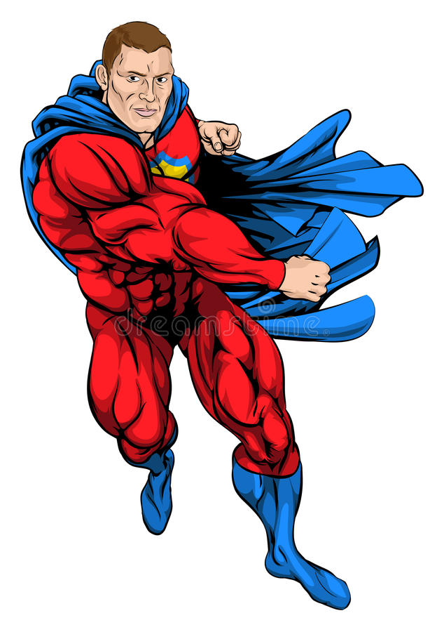 Punching superhero απεικόνιση αποθεμάτων