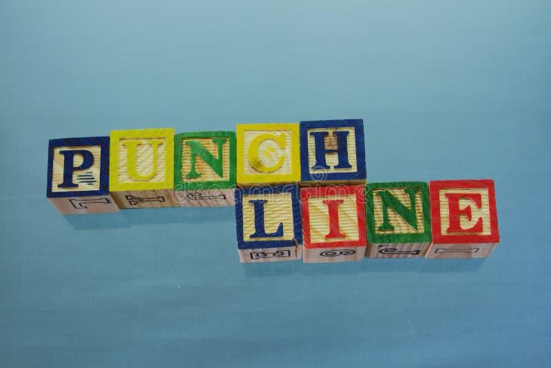 punchline fotografering för bildbyråer