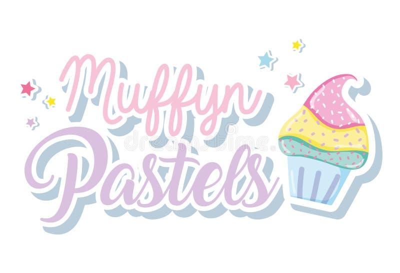 Punchy pastell för muffin royaltyfri illustrationer