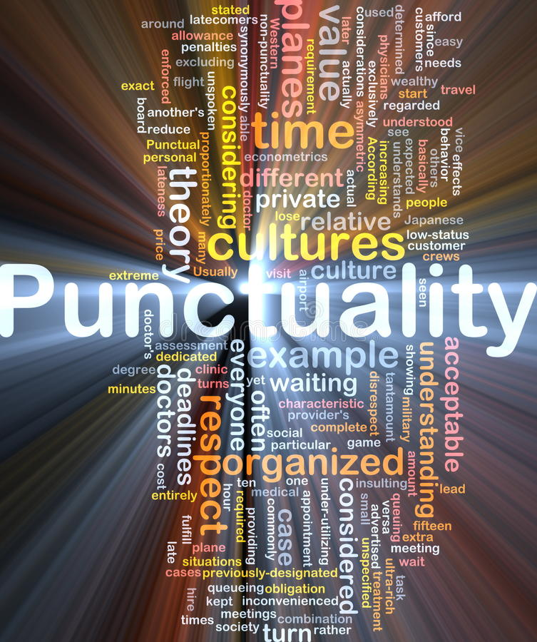 Free Punctuality Background Concept Glowing Royalty Free Stock Photo - 19490995
