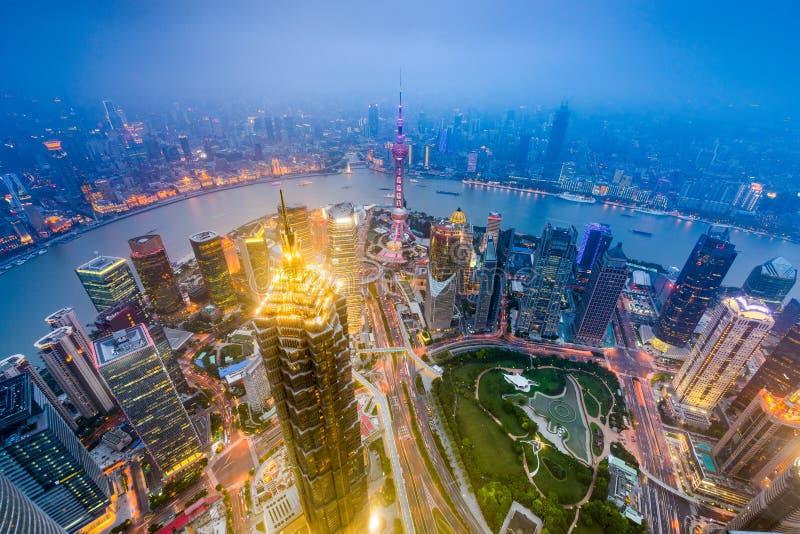 Pundong sikt av Shanghai royaltyfria foton