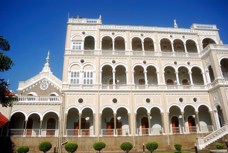 pune för slott för againdia khan maharashtra royaltyfri foto