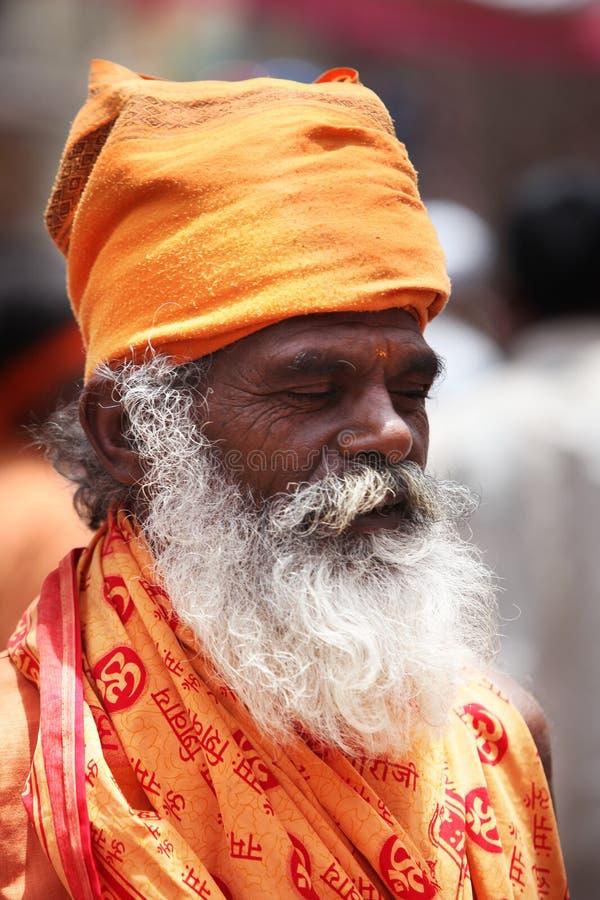 Pune, Inde - July 11, 2015 : Une sauge indienne de l'indou photographie stock libre de droits