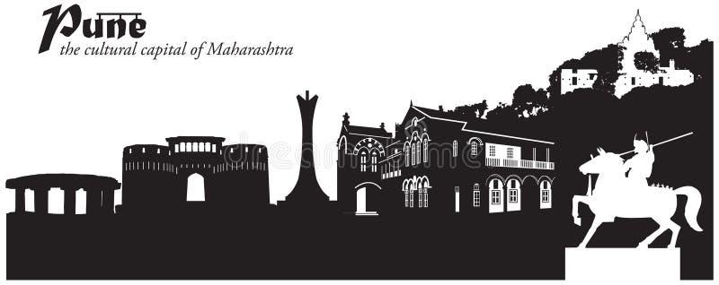 Pune Indien royaltyfri illustrationer