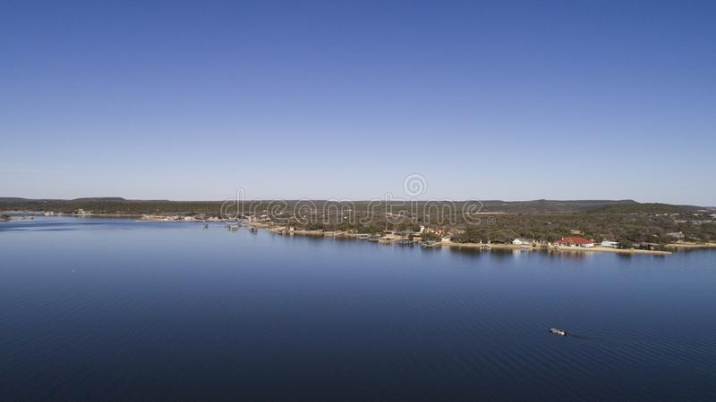 Pungråttakungarike sjö, TX arkivbilder