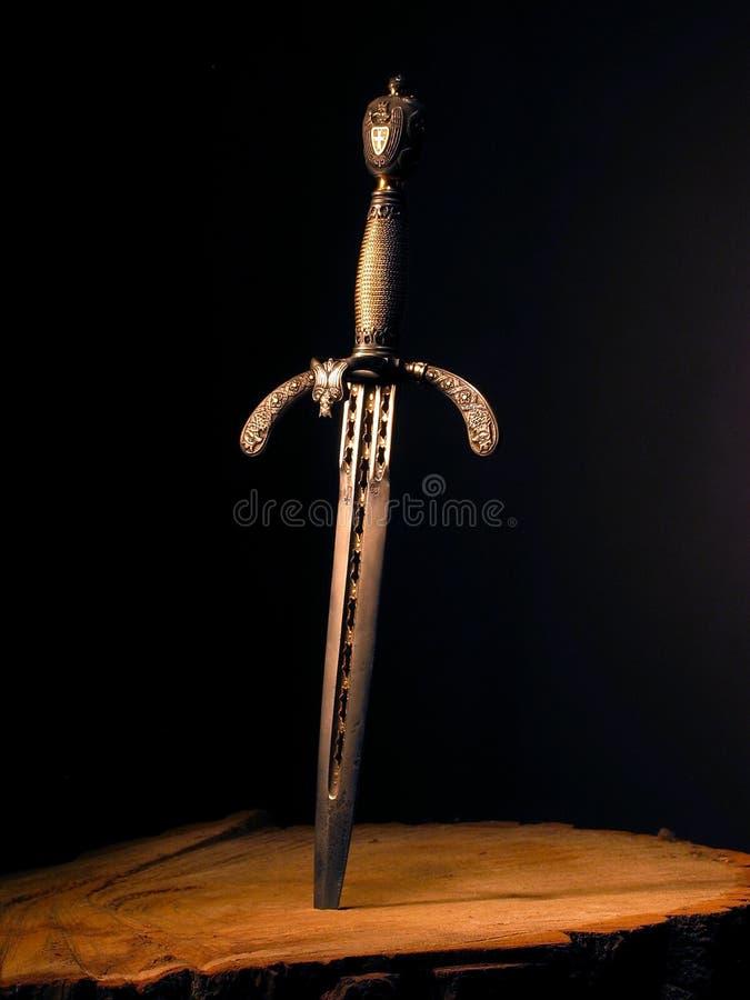 Punhal medieval fotografia de stock